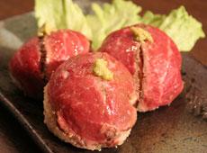 牛のてまり寿司
